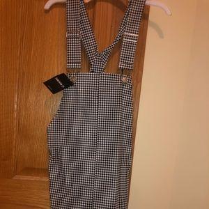 Forever 21 Gingham Overall Dress